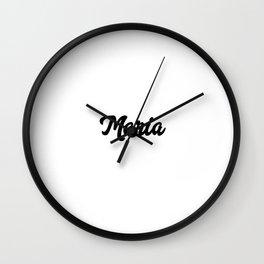Maria Custom Text Birthday Name Wall Clock