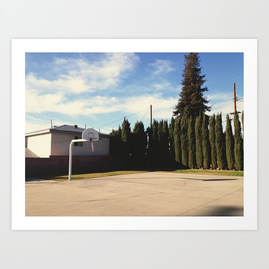 Basketball Court Art Print