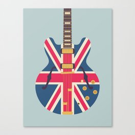 Union Jack Flag Guitar - Slate Canvas Print