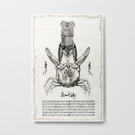 CRAB GOD Metal Print
