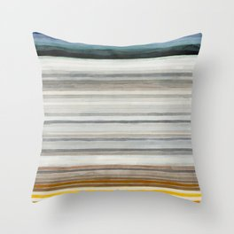 Colorbands Yellowstone Throw Pillow