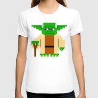 pixel T-shirts featuring Pixel Yoda by Silvio Ledbetter