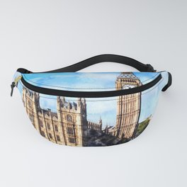 LONDON Big Ben Watercolor Art Painting Fanny Pack