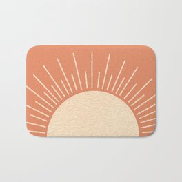 Sunrise pink Bath Mat