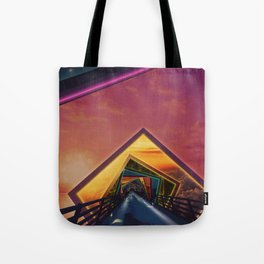 Bridge of a Thousand Colors, a Beautiful Rainbow Fractalscape Tote Bag