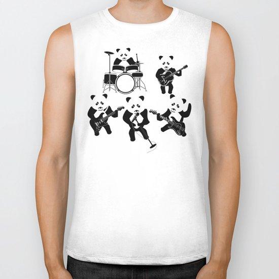 Panda Rock Band Biker Tank