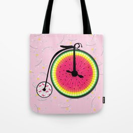 Vintage Bicycle Fruits Wheels Design Tote Bag