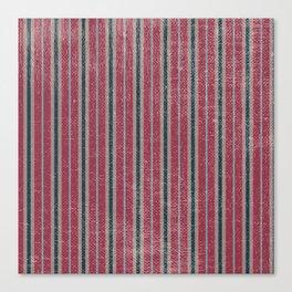 Vintage pink teal sand geometrical stripes pattern Canvas Print