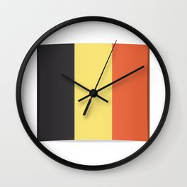 Flag of Belgium. The slit in the paper with shadows.  Wall Clock