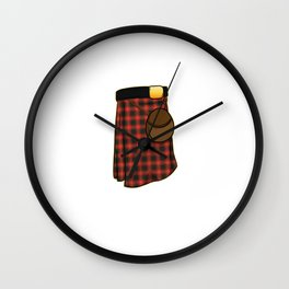 It's a kilt and the answer is nothing Scottish Wall Clock