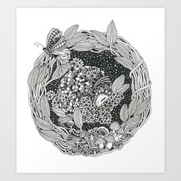Pangolin's Dream Art Print