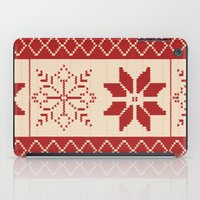 sweater iPad Cases featuring Christmas Sweater by Minette Wasserman