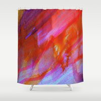 watercolour Shower Curtains featuring watercolour by Lara Gurney