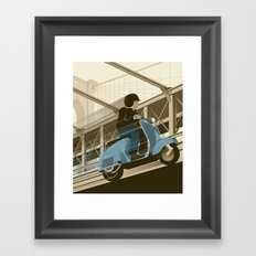 East River Crossing Framed Art Print