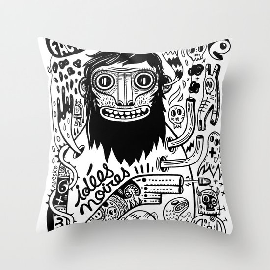 Idées noires Throw Pillow