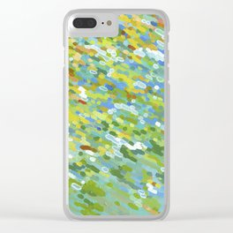 Sunny Spring Day Lake Reflections Clear iPhone Case