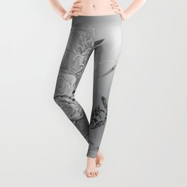 50 Shades of lace Silver Silver Leggings