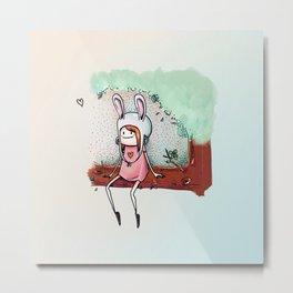 The Bunny Girl Metal Print