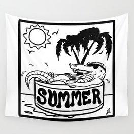 Summer Gator Days Wall Tapestry