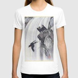 12,000pixel-500dpi - Kawanabe Kyosai - Swallows By A Waterfall - Digital Remastered Edition T-shirt