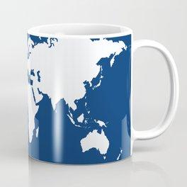Navy Elegant World Coffee Mug