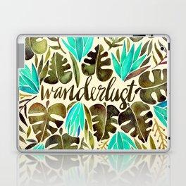 Tropical Wanderlust – Turquoise & Olive Laptop & iPad Skin
