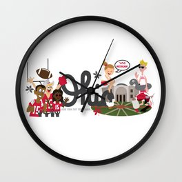 Ohio State Love Wall Clock