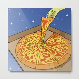 Sky Pizza Delivery Service Metal Print