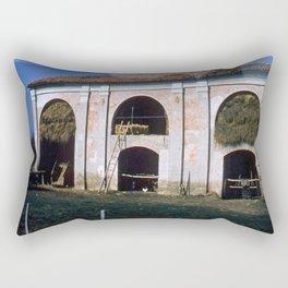 Vintage Color Photo * 1940's * Italian Farming* Barn * Italy * kodachrome Rectangular Pillow