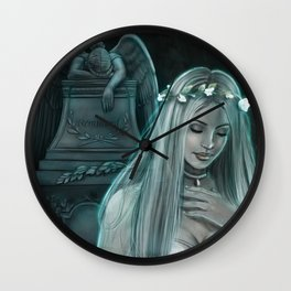 Silver Lady Wall Clock