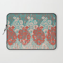 floral paisley in vermillion and teal Laptop Sleeve