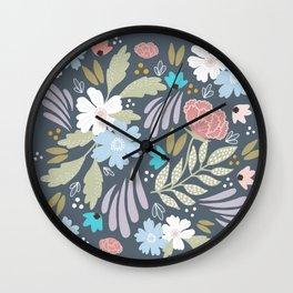 Scandinavian Florals Wall Clock