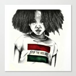 Stop the Violence Canvas Print