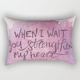 Psalm 27:14 Rectangular Pillow