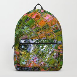 Colorful Wave Abstract Backpack