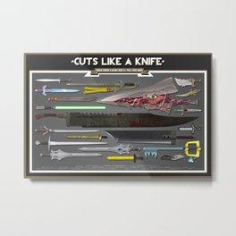 Cuts Like a Knife Metal Print