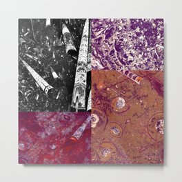 Ancient Seabed Collection Collage - Multi Metal Print