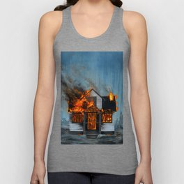 House on Fire Unisex Tank Top