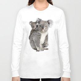 Koala bear and her baby Long Sleeve T-shirt