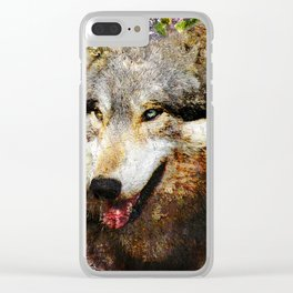 Wolf Art Clear iPhone Case