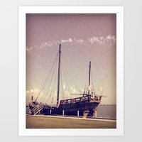 pirate ship Art Prints featuring Pirate Ship by Apples and Spindles