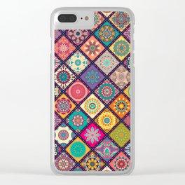 Diagonal Mandala Quilt Bee Clear iPhone Case