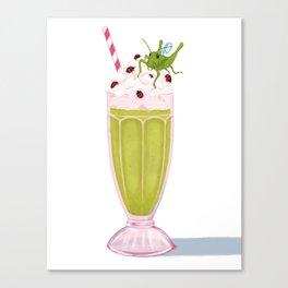 Grasshopper Milkshake Canvas Print