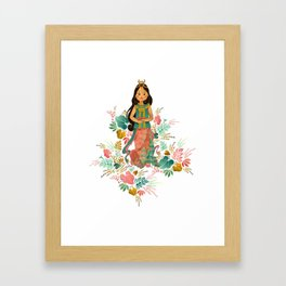 The Sundanese Goddess of Rice and Prosperity Framed Art Print