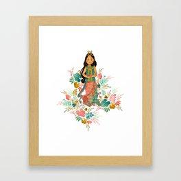 The Sundanese Goddess of Rice and Prosperity Framed Art Print