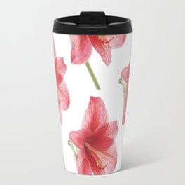 Amaryllis pattern Travel Mug