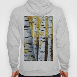 Birch Grove, acrylic painting, inspired by Belarus Hoody