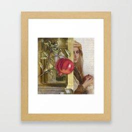 The Pomegranate Eater Framed Art Print