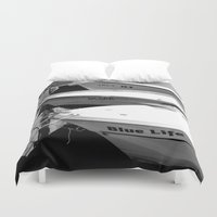 boats Duvet Covers featuring boats by habish