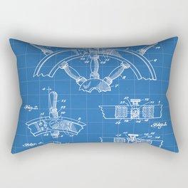 Ships Wheel Patent - Boat Wheel Art - Blueprint Rectangular Pillow
